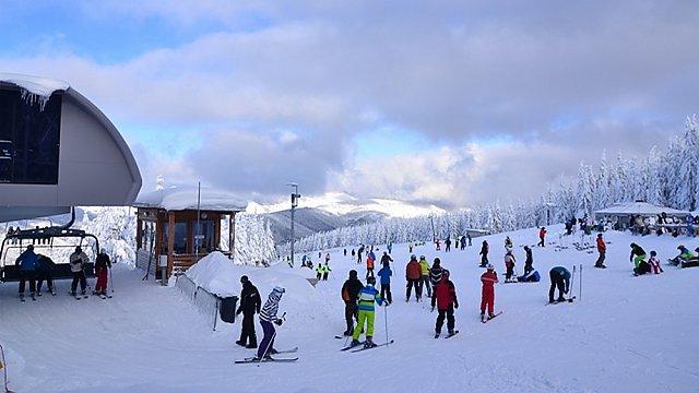 Kouty, horní stanice lanovky, Zdroj: Ski areál KOUTY