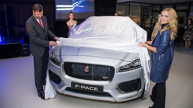 Taťána Kuchařová, odhalení Jaguaru F-Pace