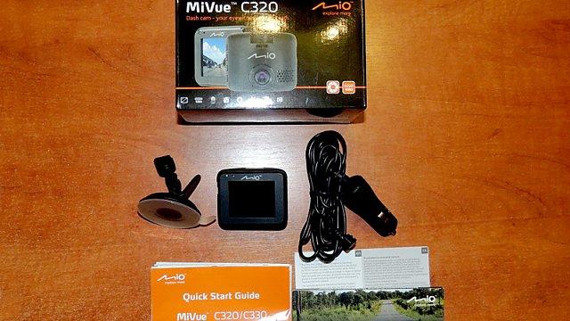 Rozbalená sada Mio MiVue C320