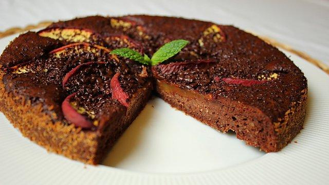 Čokoládové brownie s broskvemi, Zdroj: Naturhouse